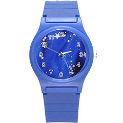 The Substance Blue Fabric Stars Round Plastic Sport Watch (s)