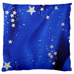 The Substance Blue Fabric Stars Large Cushion Case (one Side)