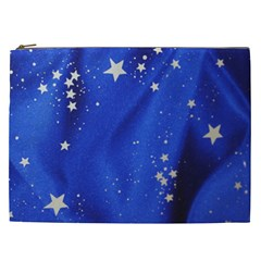 The Substance Blue Fabric Stars Cosmetic Bag (xxl)