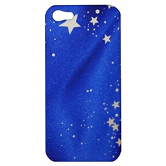 The Substance Blue Fabric Stars Apple Iphone 5 Hardshell Case