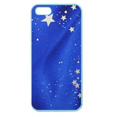 The Substance Blue Fabric Stars Apple Seamless Iphone 5 Case (color)