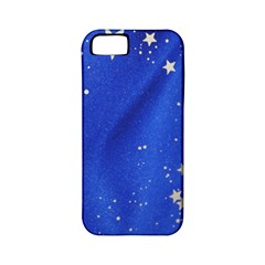The Substance Blue Fabric Stars Apple Iphone 5 Classic Hardshell Case (pc+silicone)