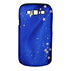 The Substance Blue Fabric Stars Samsung Galaxy S III Classic Hardshell Case (PC+Silicone)