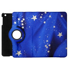The Substance Blue Fabric Stars Apple Ipad Mini Flip 360 Case