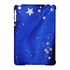 The Substance Blue Fabric Stars Apple Ipad Mini Hardshell Case (compatible With Smart Cover)
