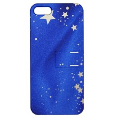 The Substance Blue Fabric Stars Apple Iphone 5 Hardshell Case With Stand