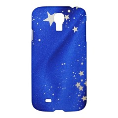 The Substance Blue Fabric Stars Samsung Galaxy S4 I9500/i9505 Hardshell Case