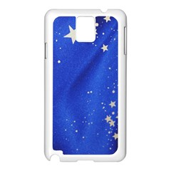 The Substance Blue Fabric Stars Samsung Galaxy Note 3 N9005 Case (white)