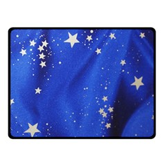 The Substance Blue Fabric Stars Double Sided Fleece Blanket (small)