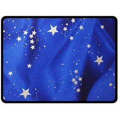 The Substance Blue Fabric Stars Double Sided Fleece Blanket (large)