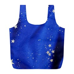 The Substance Blue Fabric Stars Full Print Recycle Bags (l)
