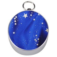 The Substance Blue Fabric Stars Silver Compasses