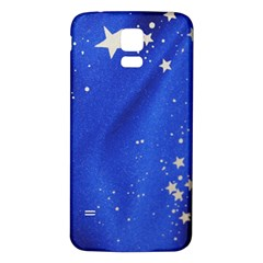 The Substance Blue Fabric Stars Samsung Galaxy S5 Back Case (white)