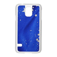 The Substance Blue Fabric Stars Samsung Galaxy S5 Case (white)