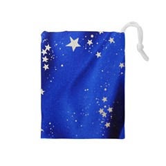 The Substance Blue Fabric Stars Drawstring Pouches (medium)