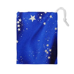 The Substance Blue Fabric Stars Drawstring Pouches (large)