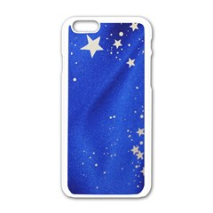The Substance Blue Fabric Stars Apple Iphone 6/6s White Enamel Case