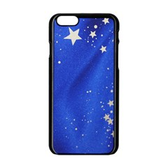 The Substance Blue Fabric Stars Apple Iphone 6/6s Black Enamel Case