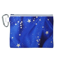 The Substance Blue Fabric Stars Canvas Cosmetic Bag (L)