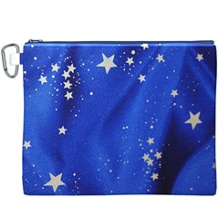 The Substance Blue Fabric Stars Canvas Cosmetic Bag (xxxl)