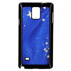 The Substance Blue Fabric Stars Samsung Galaxy Note 4 Case (Black)