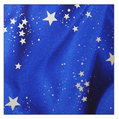 The Substance Blue Fabric Stars Large Satin Scarf (square)