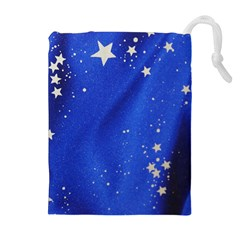 The Substance Blue Fabric Stars Drawstring Pouches (extra Large)
