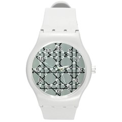 Texture Backgrounds Pictures Detail Round Plastic Sport Watch (m)