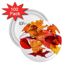 Autumn Leaves Leaf Transparent 2 25  Buttons (100 Pack)