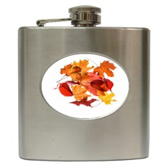 Autumn Leaves Leaf Transparent Hip Flask (6 Oz)