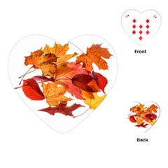 Autumn Leaves Leaf Transparent Playing Cards (heart)