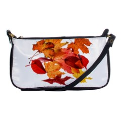 Autumn Leaves Leaf Transparent Shoulder Clutch Bags