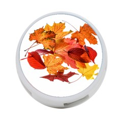 Autumn Leaves Leaf Transparent 4 Port Usb Hub (one Side)