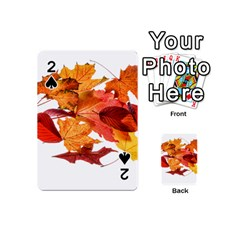 Autumn Leaves Leaf Transparent Playing Cards 54 (mini)