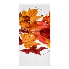 Autumn Leaves Leaf Transparent Shower Curtain 36  X 72  (stall)