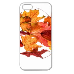 Autumn Leaves Leaf Transparent Apple Seamless Iphone 5 Case (clear)