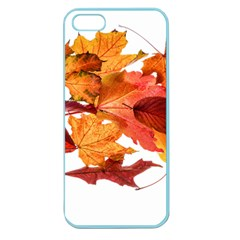 Autumn Leaves Leaf Transparent Apple Seamless Iphone 5 Case (color)
