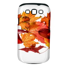 Autumn Leaves Leaf Transparent Samsung Galaxy S Iii Classic Hardshell Case (pc+silicone)