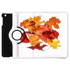 Autumn Leaves Leaf Transparent Apple Ipad Mini Flip 360 Case