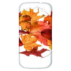 Autumn Leaves Leaf Transparent Samsung Galaxy S3 S Iii Classic Hardshell Back Case