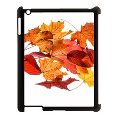 Autumn Leaves Leaf Transparent Apple Ipad 3/4 Case (black)