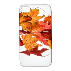 Autumn Leaves Leaf Transparent Apple Iphone 4/4s Hardshell Case With Stand