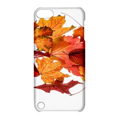 Autumn Leaves Leaf Transparent Apple Ipod Touch 5 Hardshell Case With Stand