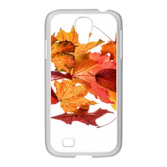 Autumn Leaves Leaf Transparent Samsung Galaxy S4 I9500/ I9505 Case (white)