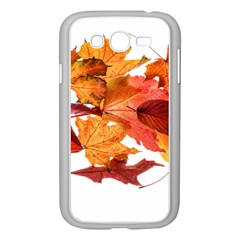 Autumn Leaves Leaf Transparent Samsung Galaxy Grand Duos I9082 Case (white)