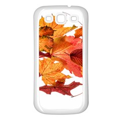 Autumn Leaves Leaf Transparent Samsung Galaxy S3 Back Case (white)