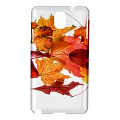 Autumn Leaves Leaf Transparent Samsung Galaxy Note 3 N9005 Hardshell Case