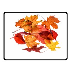 Autumn Leaves Leaf Transparent Double Sided Fleece Blanket (small)