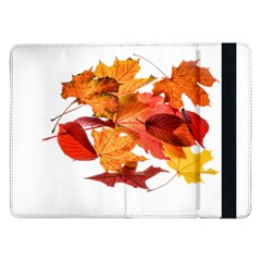 Autumn Leaves Leaf Transparent Samsung Galaxy Tab Pro 12 2  Flip Case