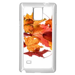 Autumn Leaves Leaf Transparent Samsung Galaxy Note 4 Case (white)